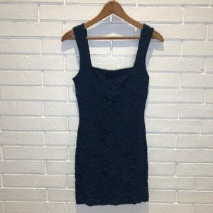 Free People navy mini dress small
